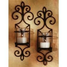 wrought iron sconces. Beautiful Iron Rustic Candle Sconces Intended Wrought Iron Sconces