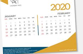Calendar 2020 Template Free Aria Creative Calendar Design Template Free Psd File