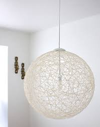 this could be a cool pendant fixture for the basement.) New Tips For Making  String Pendant Lighting At Home Made By Girl