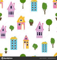 Cartoon Houses Homes Stock Vector Sunniwa 258187910