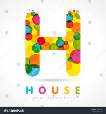 colored bubble letters letter h name logo isolated colour stock vector royalty free