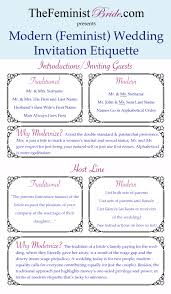 modern (feminist) wedding invitation etiquette thefeministbride Wedding Invitation Address Protocol invitation etiquette infographic Wedding Invitation Etiquette