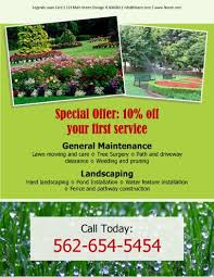Lawn Mowing Ads 15 Lawn Care Flyers Free Examples Advertising Ideas Hloom
