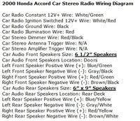 honda accord questions what is the wire color code for a 2000 1996 honda accord radio wiring diagram 2 people found this helpful