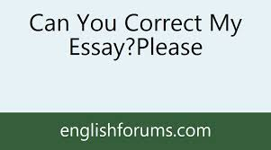 can you correct my essay please