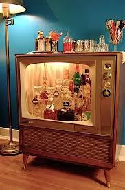 homemade man cave bar. DIY Reperposed Vintage Television Beer Bar Homemade Man Cave I