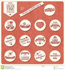 collection of valentines day vine labels typographic design greeting card
