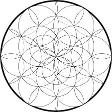 Mooie Mandala Kleurplaat Symmetrische Cirkels Met Voorbeeld