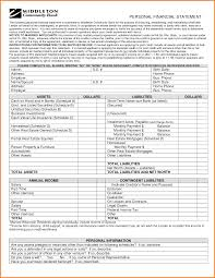 Sample Personal Financial Statement Form 24 Sample Personal Financial Statement Financial Statement Form 5