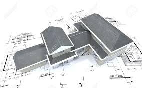 architecture blueprints 3d. 3D-rendering Of A Big Expensive-looking House On Top Architecture Blueprints Stock 3d L
