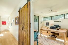 entryway office barn door. Old Door Turned Into A Sliding Barn For Office Entryway D