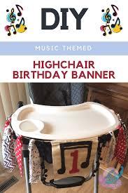 diy themed 1st birthday highchair banner