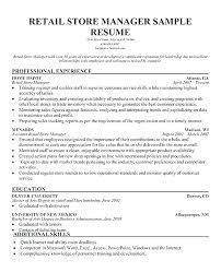 Sample Resume Of Store Manager 12 13 Stores Manager Resume Sample Loginnelkriver Com