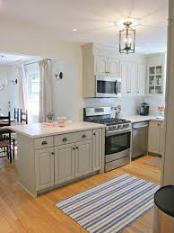 kitchen benjamin moore senora gray cabinets white dove walls lantern dash albert lighthouse