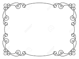 simple frame design. Perfect Frame Calligraphic Rectangle Frame Simple Frame Ornament Decorative Design  Element In Retro Style Certificate Intended Simple Frame Design N