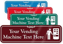 Free Printable Vending Machine Labels Magnificent Vending Machine Signs Custom Vending Machine Signs