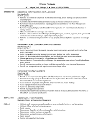 Construction Management Resume Examples Construction Management Resume Samples Velvet Jobs 2