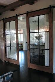 wooden barn doors with glass and framing for more privacy garage diy interior awesome glass barn doors