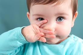 Baby veel verkouden