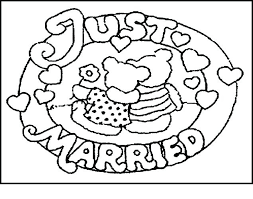 wedding coloring pages with wedding coloring pages free