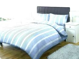 blue striped duvet cover and white set light ticking stripe rugby