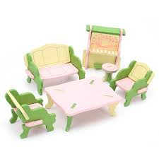 dolls furniture set. Wood Family Doll Dollhouse Furniture Set,Dolls House Miniature Decoration Accessories Room Set Kids Dolls
