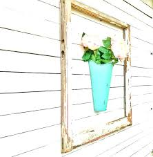 galvanized hanging wall bucket rustic patina galvanized metal wall pocket wall planter farmhouse wall decor wall plant container galvanized hanging bucket
