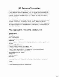 Luxury Inspirational Entry Level Human Resources Resume