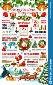 Christmas Chart Images Christmas Infographics With Winter Holiday Chart Stock