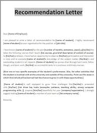 Samples Of Letters Recommendation Letter Example Reference Expert