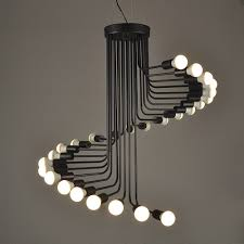modern lighting fixture. Modern Lighting Pendant. Lukloy Loft Pendant Lights, Iron Spiral Staircase Fixture For M