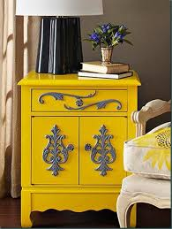 Painted furniture ideas Hand Painted Architecture Art Designs 23 Expressive Yellow Painted Furniture Ideas