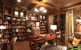 rustic home office ideas. Shelf Space For Books And More Rustic Home Office Ideas
