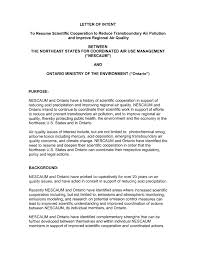 Letter Of Intent With Resume Cover Letter