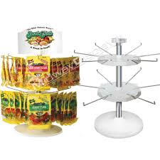 2 tier hook rotor counter candy merchandiser