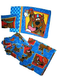 scooby doo bed set bed bed set pillow case best images on cartoon characters kids blue