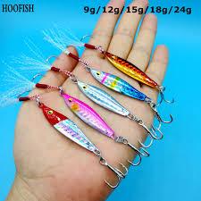 HOOFISH <b>10PCS</b>/<b>LOT fishing spoon</b> spinner bait 9g/12g/15g/18g ...