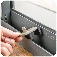 image of sliding glass door lock bar detail