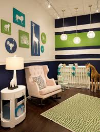 View in gallery Creative nursery in green, navy blue and white [From:  Bellini Baby and Teen