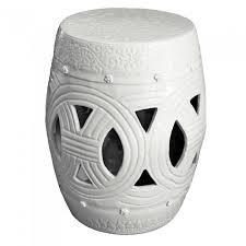 new white carved rope garden stool white garden stool77