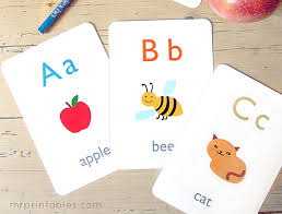 High quality printable flash cards for each letter of the alphabet including images. 8 Free Printable Educational Alphabet Flashcards For Kids