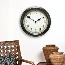 chaney wall clock inch large black rustic wood chaney wall clock