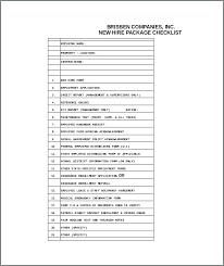 New Hire Paperwork Template Jobs Checklist Hiring Sample