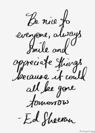 Be Nice Quotes Fascinating Be Nice To Everyone Always Smile And Appreciate Things Ed