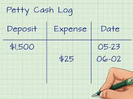 petty cash log example how to account for petty cash 11 steps with pictures wikihow
