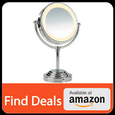 conair double sided battery operated lighted makeup mirror 5x