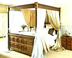 Curtains For Canopy Bed Frame King Size 4 Poster Bed King Size ...