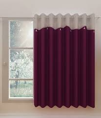 Homefab India Single Window Eyelet Curtain Solid Purple ...