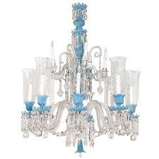 baccarat opaline glass and crystal twelve light chandelier at 1stdibs regarding popular home baccarat crystal chandelier ideas