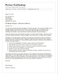 Massage Therapist Cover Letter Spa Therapist Cover Letter Sample
